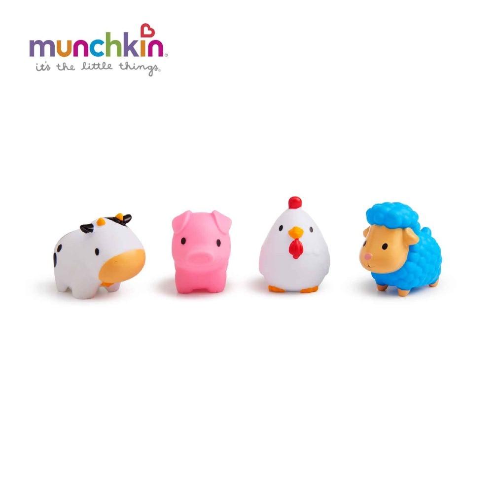 Munhkin Squirtin Barnyard Friends bath toys 4pk free shipping worldwide Baby Wash Bath Play lovely Animals Toys