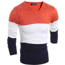 M-2XL!!!! Men Sweater 2017 Men's Fashion Design Sexy Classic Leisure Brand Mens V-Neck Comfortable Stripe Christmas Sweater