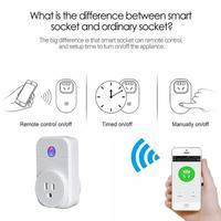 1pc UK EU US Plug Smart Power Socket AC 220v Enchufe Wifi App Control Home Automation
