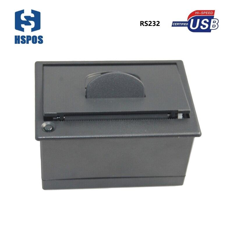 Bas prix USB réception montage sur panneau imprimante mécanismes soutien POS système d'exploitation DC5V