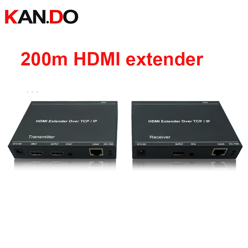 212L 200M HDMI Extender Over IP RJ45 200M Transmission Supports Over cat5e/cat6 Full HD 1080P/H.264 HDMI transmission 80 channels hdmi to dvb t modulator hdmi extender over coaxial