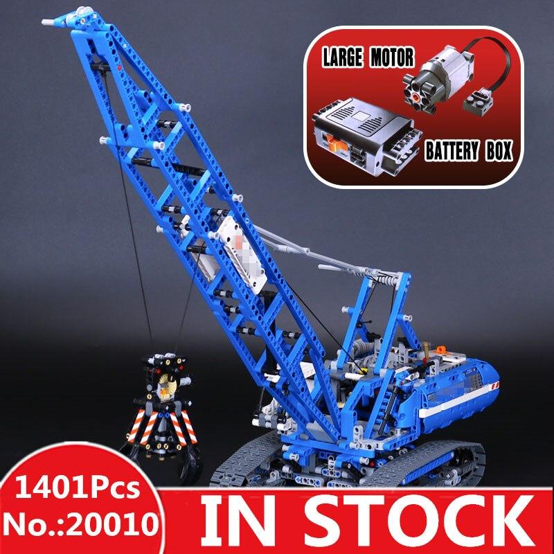 H&HXY MOC 20010 New 1401Pcs Genuine Technic Mechanical The Crawling Crane Set Building Blocks Bricks lepin Educational Toys