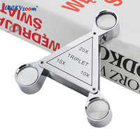 10X 15X 20X Handheld Mini Pocket Magnifying Glass High Quality Optical Lens Metal Portable Jewelry Magnifier Loupe Reading Lupa