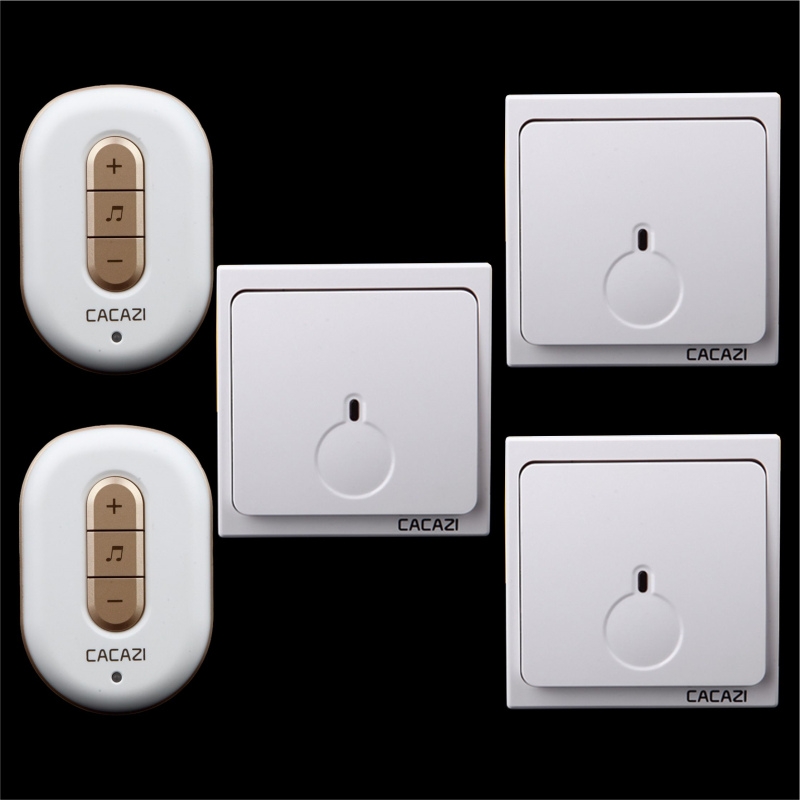 Free shipping! 3 transmitter + 2 Receiver New Wireless Doorbell With Remote Control Musical 48Tunes Digtal doorchime D9918 -3+2