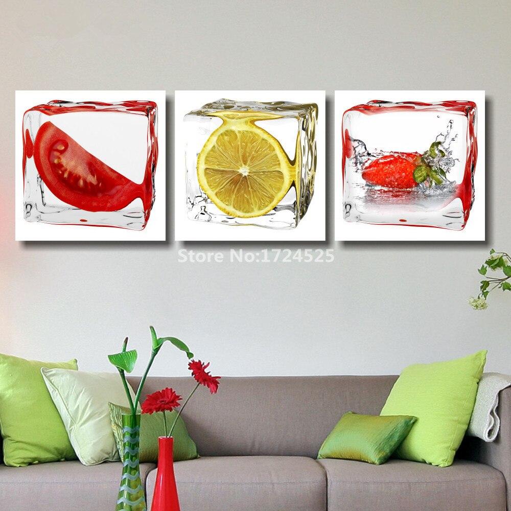 Aliexpress.com : Buy CLSTROSE 3 Pcs Canvas Prints Fruit For Lemon ...