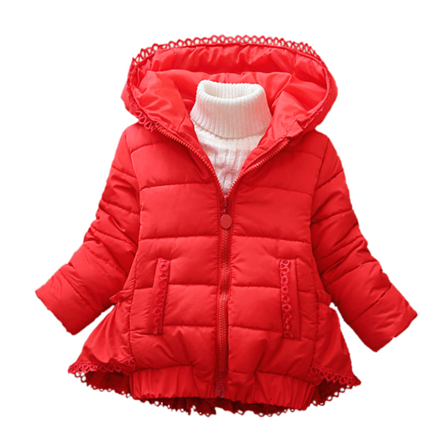 b9b965920 Child Girls Princess Winter Cotton Padded Clothes Cold Weather Warm Thick  Jacket Outwear 2-8 Years Baby Kids Children 3 Colors