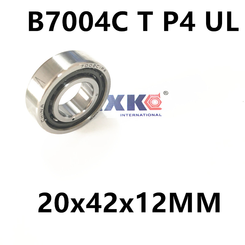 1pcs AXK  7004 7004C B7004C T P4 UL 20x42x12 Angular Contact Bearings Speed Spindle Bearings CNC ABEC-7 1pcs 71901 71901cd p4 7901 12x24x6 mochu thin walled miniature angular contact bearings speed spindle bearings cnc abec 7