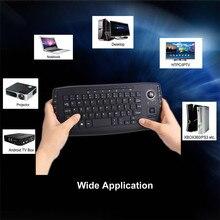 2 4G Mini Wireless Keyboard Air Mouse Multi media Functional Trackball 1 M