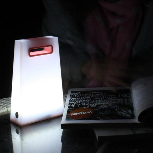 Iguardor Fashion Paper Bag Style Led Hand Lamp Portable Lanterns Pink Blue