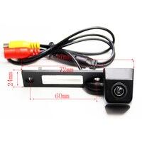 Otomobiller ve Motosikletler'ten Araç Kamerası'de CCD HD park araba dikiz geri görüş kamerası Transporter için T5 T30 Caddy Passat B5 Touran ters kamera su geçirmez ters