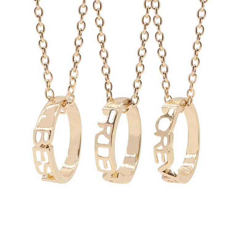 Fashion Best Friends Forever Pendants & Necklaces 3 Piece ...