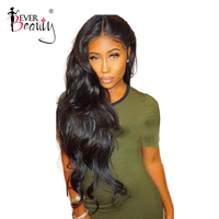 250% Density 13x6 Lace Front Human Hair Wigs For Women With Baby Hair Brazilian Lace Frontal Body Wave Wig Remy Ever Beauty