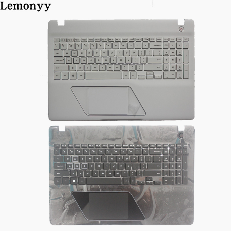New US Laptop Keyboard for SAMSUNG 8500GM 8500 English Keyboard Shell Palmrest Cover Backlight white/black new for asus u52f u52f bbl5 u52f bbl9 u52f bbg6 palmrest english us laptop keyboard black touchpad cover