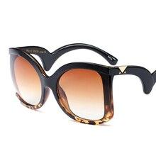 Pop Age 2018 Trend Sunglasses Women Cat Eye Oversized Plastic Frame Eyewear Fashion Vintage Sun glasses Oculos de Sol