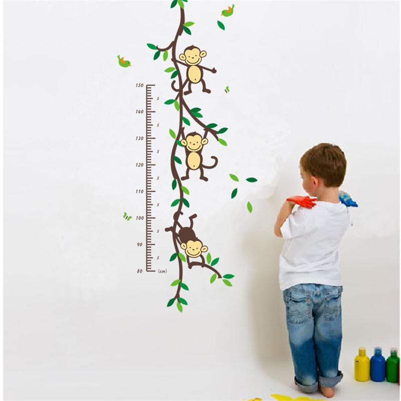 Cartoon Animal Monkey Tree Branch Home Dacor Wall Sticker Baby Child