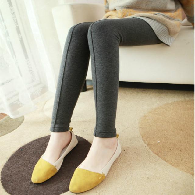 2016 New outono inverno maternidade leggings mulheres Grávidas para manter calças quentes Adicionar lã com calças de algodão grosso