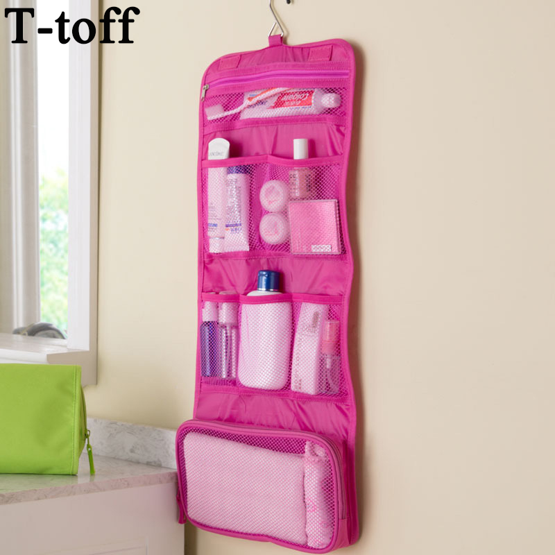 New Arrival women man portable foldable travel Cosmetic case hanging toiletry bags bathroom storage bag organizer make up bag цена