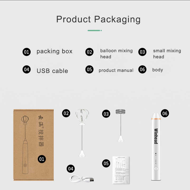 Kbxstart USB Recarregável Portátil Liquidificador Misturador 3 Engrenagem 13000/min Pessoal Café Liquidificador Fácil Mini Liquidificador Com Duas Cabeças