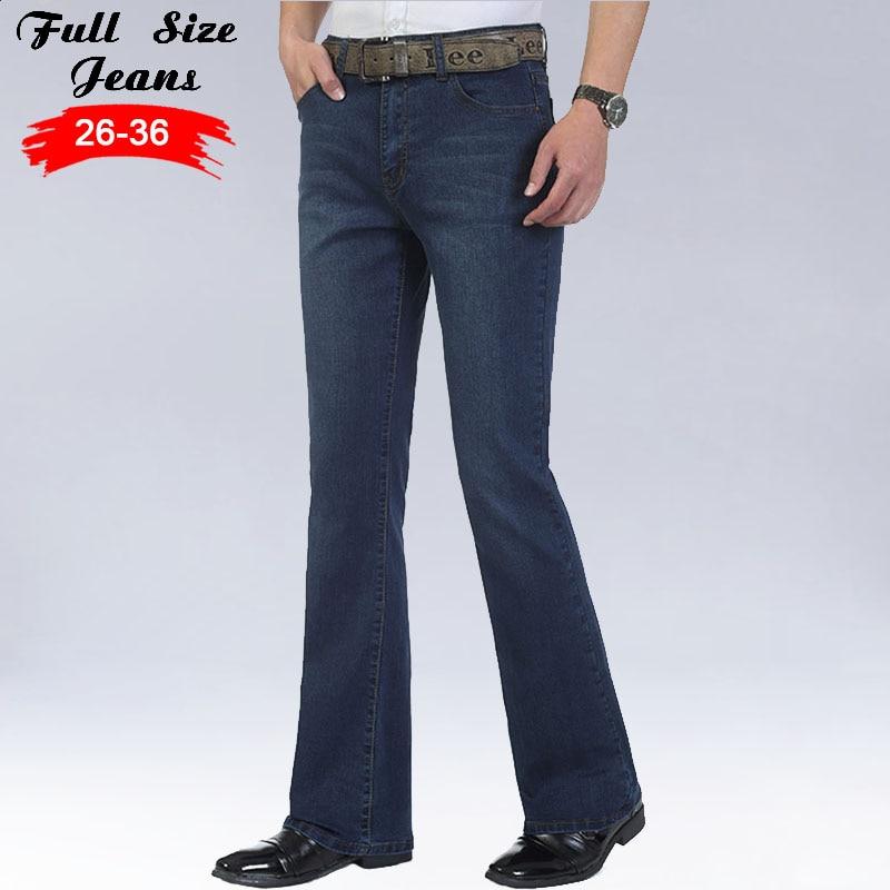 Slim Fit Designer Jeans Men 2017 Streetwear Flare Jeans Famous Brand Boot Cut Gental man BootCut Male Classic Denim Jeans 35 36