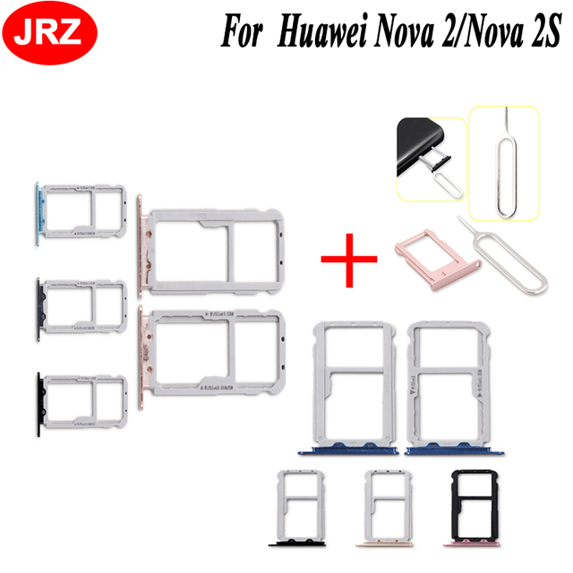 For Huawei Nova 2 Nano SIM Card SIM Tray+Micro SD Card Holder Adapter For  Huawei Nova 2S Phone With Take Sim Card Eject Tool-in Adapters from