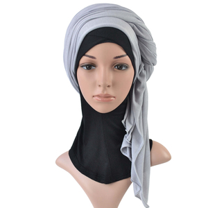 Image 4 - Einem stück hijab frauen viskose jersey schal muslim islamischen solide plain jersey hijabs maxi schals weiche schals 70x160 cm