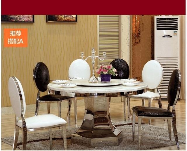 Caliente venta mesa comedor set con mesa redonda y sillas de comedor ...