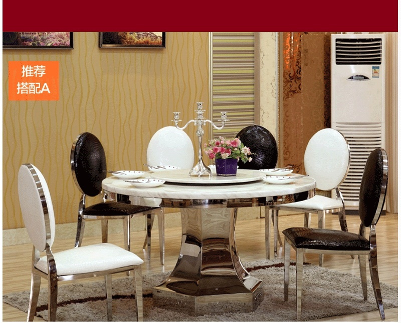 Hot Sale Dining Room Table Set With Round Table And Dining Chairs 6 Pcs Dining Room Furniture Dining Table Set Also For Hotel Set Table Silicone Table Helperset Blouse Aliexpress