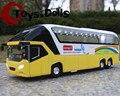 1/32 Miniaturas de Coches Nueva York Modelo De Autobús de Dos Pisos de Turismo Coleccionables Niños Regalo W/light & sound F