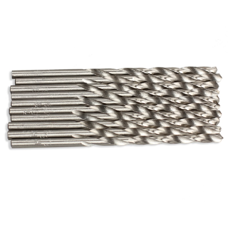 10 PCS / Set HSS Twist Drill Bit Set Saw Set 3mm 60mm Long Micro HSS Twist Drilling Auger Bit for Electrical Drill Wood Aluminium