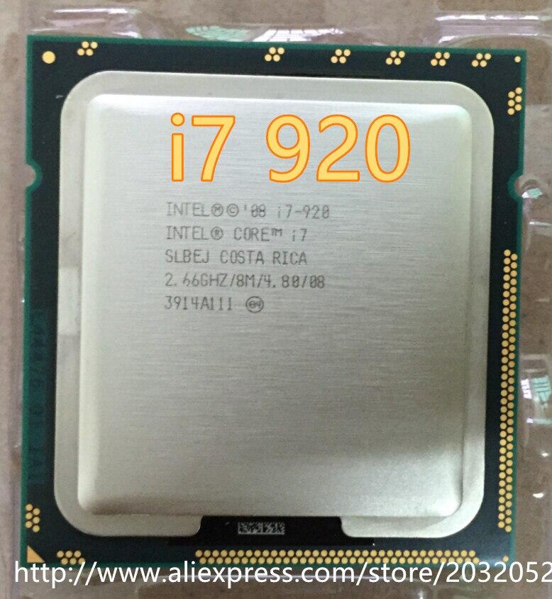 Intel Core i7-920 SLBCH/SLBEJ 2.66 GHz Quad-Core L3 8 M Processeur Socket LGA1366 I7 920 d'occasion  Livré partout en France