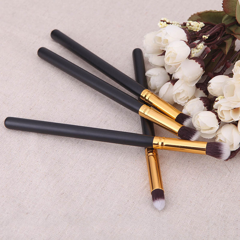 4pcs Professional Foundation Blush Blending Eyeshadow Makeup Brush Cosmetics Flat Round Angled Tapered Top Brush 789(China)