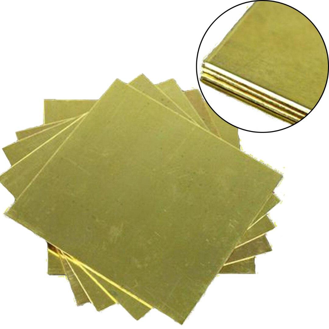 1pc H62 Brass Metal Copper Sheet Plate Block Slice 1.5mm x 100mm x 100mm Mayitr For Power Tool ss 16 sheet metal shrinker stretcher metal plate shrinking machinery tools