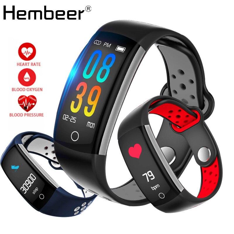 купить Hembeer E6HR Smart Bracelet Swimming Fitness Watches Heart Rate Monitor Blood Pressure Monitor Blood Oxygen Tracker pk fitbits по цене 1631.26 рублей