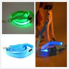 pevný pet dog LED leahses vede pet tažné lano popruh pro psy kočky 120cm délka baterie a USB dobíjecí B02