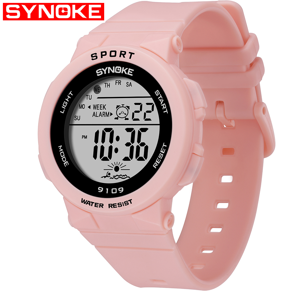 SYNOKE Fashion 50M Waterproof Students Kids Watches Children Boys Girls Digital LED Alarm Date Casual Watches Sport Wrist WatchSYNOKE Fashion 50M Waterproof Students Kids Watches Children Boys Girls Digital LED Alarm Date Casual Watches Sport Wrist Watch