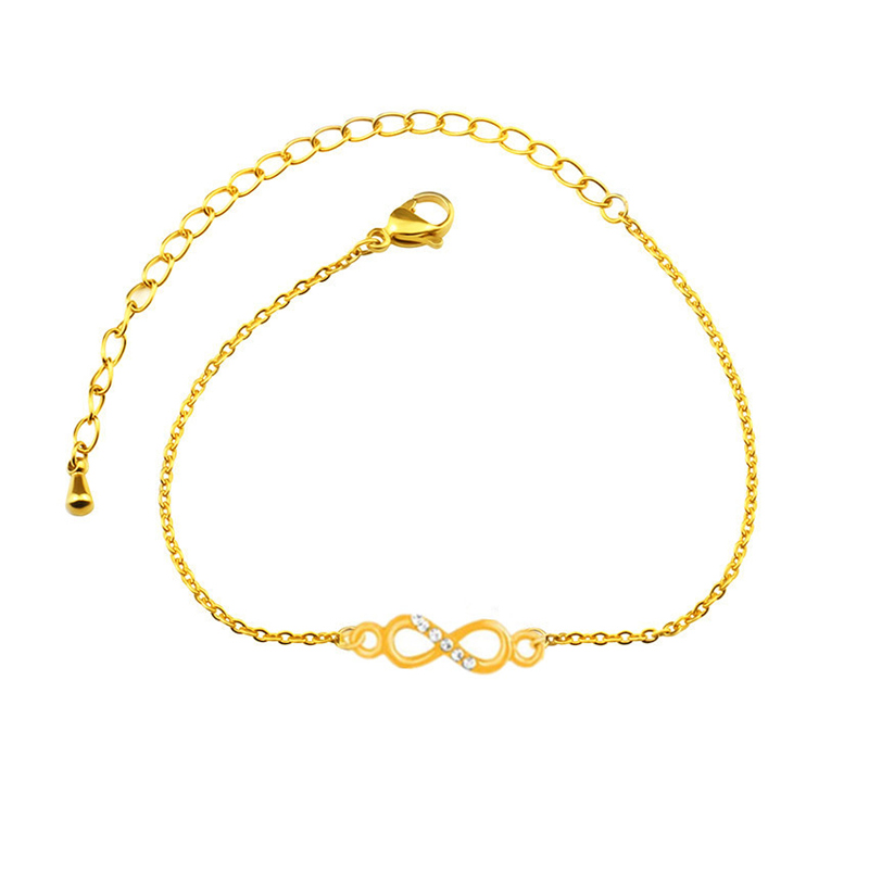 fea4946902d0 10 piezas de moda de pulsera de Zirconia cúbica y brazaletes para las  mujeres los hombres amor sin fin de enlace de cadena de lujo Armbanden Voor  Vrouwen ...