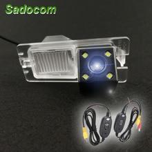 HD автомобиль CCD 4 светодиода ночное видение резервного копирования заднего вида камера Водонепроницаемый Парковка для Ssangyong Rexton Kyron Korando Actyon