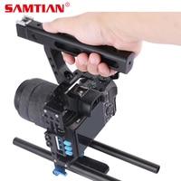 SAMTIAN 15 мм стержень установка DSLR Камера видео Cage Kit Топ Ручка Следуйте Фокус для sony A7SII A7R A7S a7 A7RII Panasonic GH4 GH3