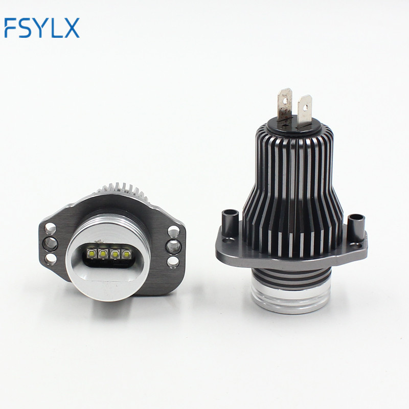 FSYLX 40W LED Angel Eyes Marker Lights Bulbs For BMW E90 E91 3 series 2005-2008 before LCI with factory xenon headlight rockeybright 12v 40w bright led marker headlight bulb for bmw e90 e90 lci 7000k white led angel eyes for bmw e90 led headlight