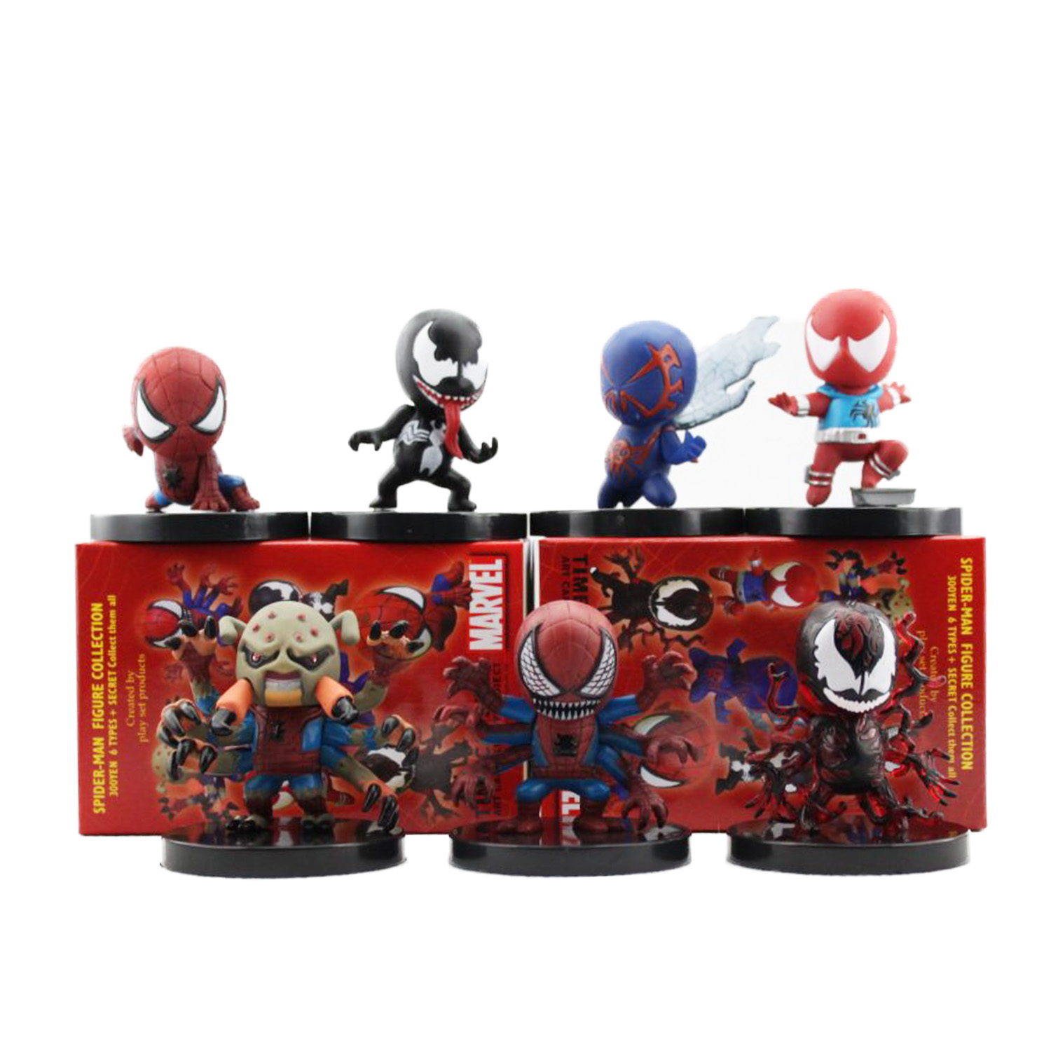 Spiderman 7pcs/set 6cm The Amazing Spiderman Nendoroid Marvel Action Figure Collection Model Dolls Cute Kids Gifts Toys 1203 недорого