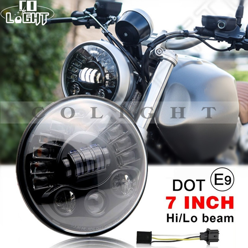 CO LIGHT 7 Inch Car Headlight Led 12V 24V DRL 40W 70W Hi-Lo Beam for OffRoad Jeep Wrangler Bike Lada Niva Toyota BMW Car Styling co light 105w round 7 inch led headlight h4 h13 angel eye hi lo drl 12v 24v for jeep wrangler land rover lada niva 4x4 off road