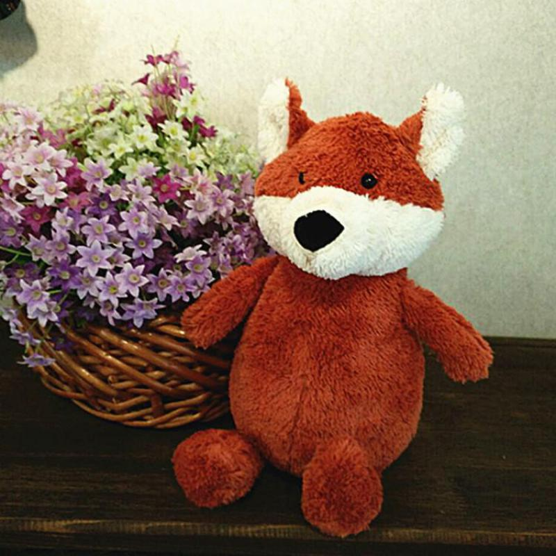 Cute 26cm Cartoon Foxes Plush Toys Fox Soft Stuffed
