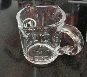 Image 5 - 1 PC 70ML hiqh jakości wysokiej temperatury szkło odporne na ciepło filiżanka espresso espresso narzędzia szklany kubek ze skalą