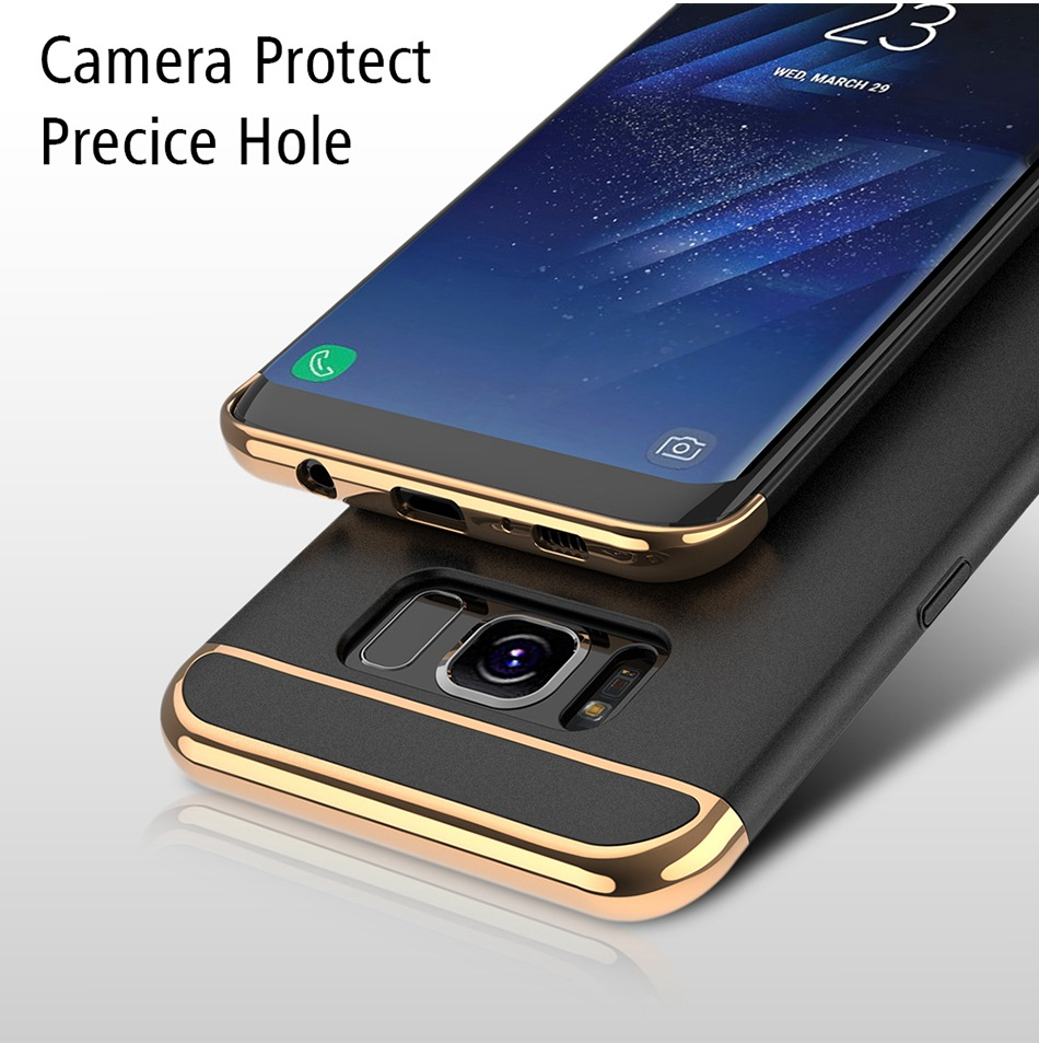 Ring Holder Cover For Samsung Galaxy S8 Plus S8 Case 3 in 1 Combo Armor Stand Phone Bag Cases  (8)