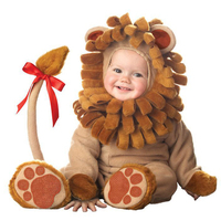 Hat +Romper Lion INS christmas Easter Show Baby Cartoon Halloween Kids Cosplay Character Gift infant