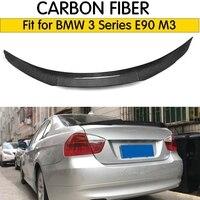 For bmw E90 spoiler E90 & E90 M3 carbon fiber rear trunk spoiler 318i 320i 325i 330i 2005 2011 E90 sedan rear wing spoiler