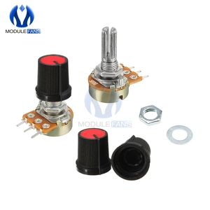 5PCS Red Linear Taper Rotary Potentiometer Resistor Cap Knob For Arduino 1K 2K 5K 10K 20K 50K 100K 250K 500K 1M Ohm