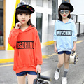 2017 Spring New Arrival Baby Girl Casual Hoodies Letter Pattern Kid Hooded Sweatshirt Children Cotton Top T-shirt Clothes