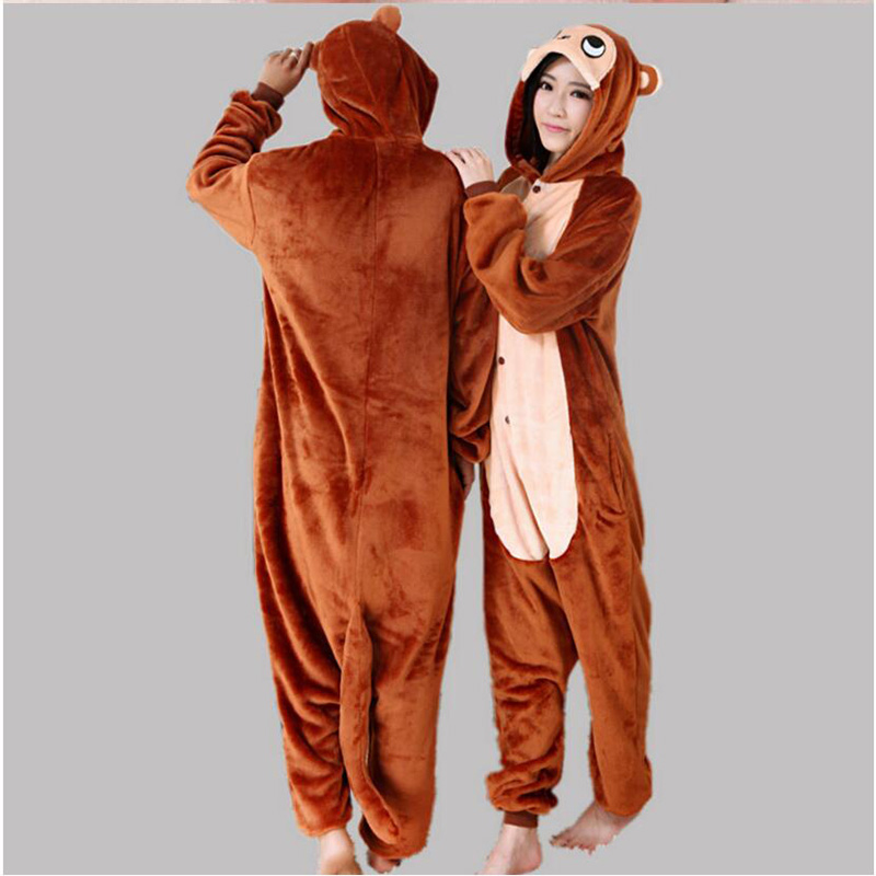 e9d55af7ca08 New Style Women s Monkey Pattern Footed Pyjamas For Adults Full ...