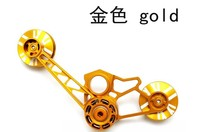 BMX chain tensioner for folding brompton bicycle guide wheel 4 colors 123g birdy chainer for 1/2/3speed